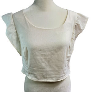 Urban Renewal Women's Sz. L Linen Crop Top